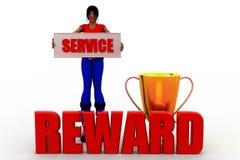 3d women Service reward concept Royalty Free Stock Image