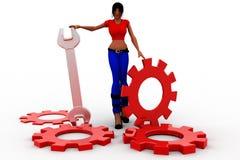 3d women settings Stock Images