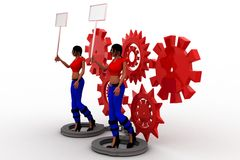 3d women settings Royalty Free Stock Images