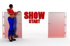 3d women show start concept Stock Image