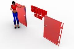 3d women show start concept Stock Photo
