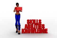 3d women Skills Abilities Knowledge Stock Images