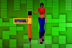3d women special illustration Stock Images