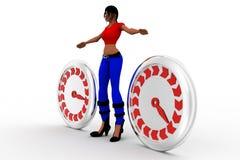 3d women Speedometer Stock Images