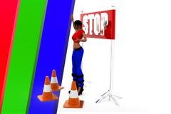 3d women   stop it Royalty Free Stock Photo