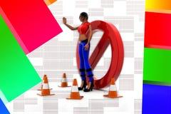 3d women stop Illustration Stock Images