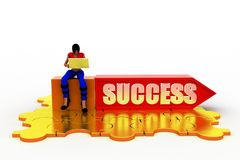 3d Women Success concept Stock Photo