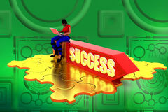 3d Women Success illustration Royalty Free Stock Photos