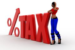 3d women tax percentage illustration Stock Images