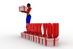3d Women Thank you illustration Royalty Free Stock Images