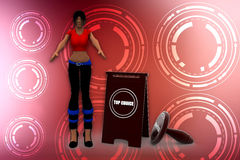 3d women top choice illustration Stock Image