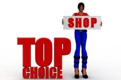 3D women top Choice Stock Images