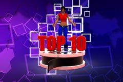 3D women top 10 illustration Stock Photography