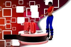 3D women top 10 illustration Royalty Free Stock Photo