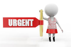 3d women urgent concept Royalty Free Stock Image