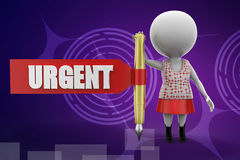 3d women urgent illustration Royalty Free Stock Photos