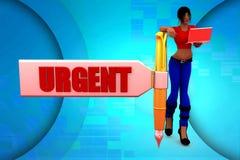 3d women urgent illustration Royalty Free Stock Photos