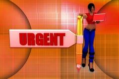 3d women urgent illustration Stock Image