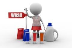 3d women wash concept Stock Photography