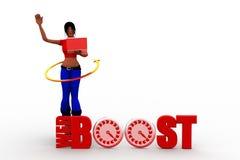 3d women web boosting traffic Royalty Free Stock Image