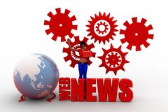 3d Women  Web News Text Concept Royalty Free Stock Photo