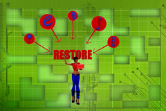 3d women web restore  illustration Royalty Free Stock Photo