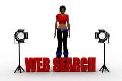 3d women web search Royalty Free Stock Photography