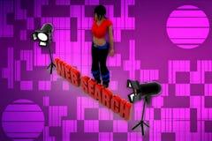 3d women web search illustration Royalty Free Stock Photo