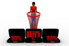 3d women whats your rate concept Stock Photos