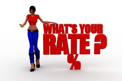 3d women whats your rate concept Stock Photography