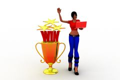 3d women win concept Royalty Free Stock Image