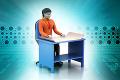 3d women in work place Royalty Free Stock Photo