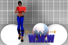 3d women www Illustration Royalty Free Stock Photo