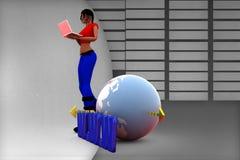 3d women www Illustration Stock Photography
