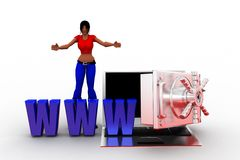 3d women www Illustration Royalty Free Stock Images
