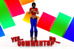 3d Women Yes Comments No Illustration Stock Images