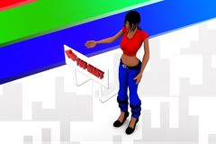 3d women you want illustration Royalty Free Stock Photography