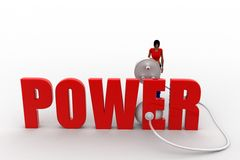 3d womer power plug Royalty Free Stock Photos
