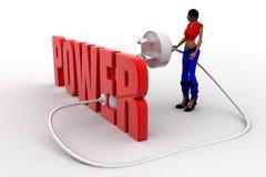 3d womer power plug Stock Photo
