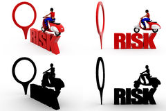 3d womna risk concept collections with alpha and shadow channel Royalty Free Stock Images