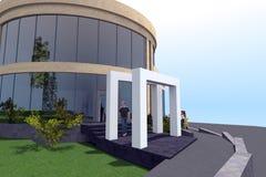 3D woningbouw Stock Fotografie