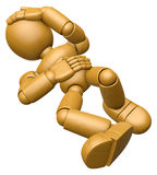 3D Wood Doll Mascot All my joints ache. 3D Wooden Ball Jointed D Stock Photo