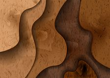 3D woodcut layers texture vector banner. Abstract wood cut art background design for website template. 10 eps royalty free illustration