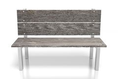 3D wooden bench. On white background - great for topics like parks etc Royalty Free Stock Images