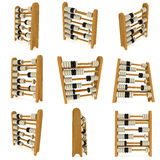3d wooden black and white toy abacus set Royalty Free Stock Photo