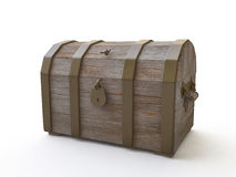 3D Wooden Chest Royalty Free Stock Photo