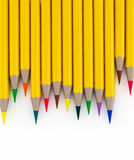 3d wooden colorful pencils isolated on white Royalty Free Stock Images