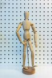 3D wooden figure posing walking action  Royalty Free Stock Photos