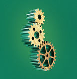 3d wooden gears Royalty Free Stock Images