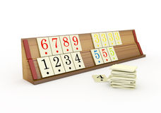 3d Wooden Rummikub Stand -  Stock Photos